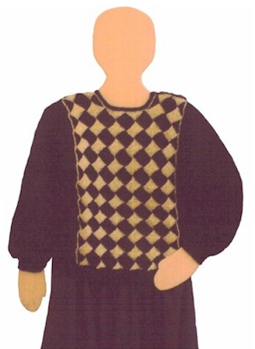 Center Panel Sweater Entrelac Knitting Pattern From Fiber Images