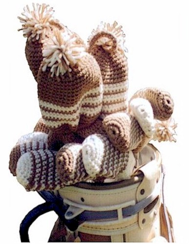 Crochet Golf Club Covers Pattern From Fiber Images